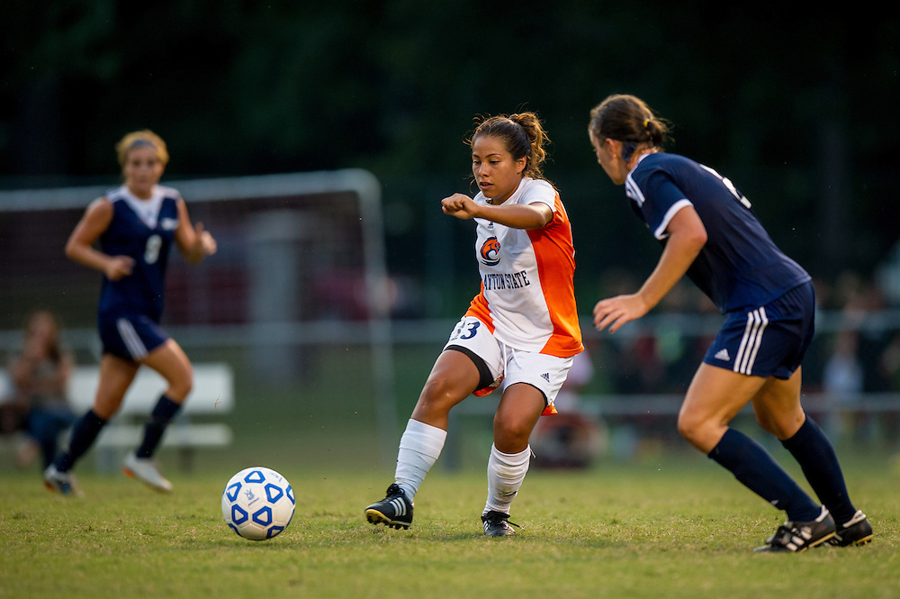 Sep 5, 2013; Morrow, GA, USA; Clayton State women's soccer player Daniela Diaz against Tampa at CSU. Both teams tied 3-3 in overtime. Photo by Kevin Liles/kevindliles.com
