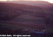 Northeast PA Landscape, sunset, farmland, Wyomissing Rocks view, U.S. route 6 overview