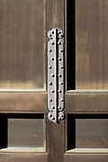 old rusty door hinge at a temple in Kamakura Japan