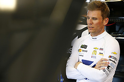 July 13, 2018 - Sparta, Kentucky, United States of America - Jamie McMurray (1) hangs out in the garage during practice for the Quaker State 400 at Kentucky Speedway in Sparta, Kentucky. (Credit Image: © Chris Owens Asp Inc/ASP via ZUMA Wire)