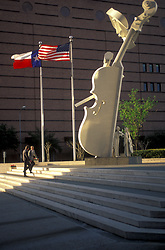 Stock photo of Cellist by David Adickes in downtown Houston