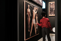 March 30, 2019 - Jerusalem, Israel - A young boy admires a painting of female nudes exhibited as part of 'Victory over the Sun, Russian Avant-Garde and Beyond' at the Israel Museum. (Credit Image: © Nir Alon/ZUMA Wire)