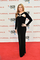 © Licensed to London News Pictures. 14/10/2016. AMY ADAMS attends the Nocturnal Animals film premiere of as part of the London Film Festival. London, UK. Photo credit: Ray Tang/LNP