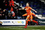 Luton Town FC forward James Collins (19) celebrates Lutons third goal 3-0 during the EFL Sky Bet League 1 match between Luton Town and Peterborough United at Kenilworth Road, Luton, England on 19 January 2019.