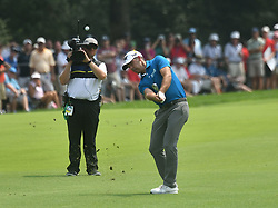 August 12, 2018 - St. Louis, Missouri, U.S. - ST. LOUIS, MO - AUGUST 12: Charl Schwartzel hits his shot from the #1 fairway during the final round of the PGA Championship on August 12, 2018, at Bellerive Country Club, St. Louis, MO.  (Photo by Keith Gillett/Icon Sportswire) (Credit Image: © Keith Gillett/Icon SMI via ZUMA Press)