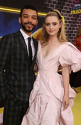 May 2, 2019 - New York City, New York, U.S. - Actors JUSTICE SMITH and KATHRYN NEWTON attend the US premiere of Pokemon Detective Pikachu held at Military Island Times Square. (Credit Image: © Nancy Kaszerman/ZUMA Wire)