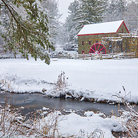 New England snowy winter scenery at the historic Sudbury Grist Mill located in the Longfellow's Wayside Inn Historic District of Sudbury, Massachusetts.<br /> <br /> Massachusetts Sudbury Grist Mill photography photos are available as museum quality photo, canvas, acrylic, wood or metal prints. Wall art prints may be framed and matted to the individual liking and interior design decoration needs:<br /> <br /> https://juergen-roth.pixels.com/featured/winter-at-the-massachusetts-sudbury-grist-mill-juergen-roth.html<br /> <br /> Good light and happy photo making!<br /> <br /> My best,<br /> <br /> Juergen