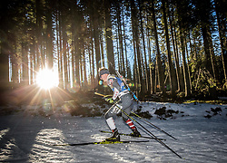 Travis Cooper (USA) in action during the Men 10km Sprint at day 6 of IBU Biathlon World Cup 2018/19 Pokljuka, on December 7, 2018 in Rudno polje, Pokljuka, Pokljuka, Slovenia. Photo by Vid Ponikvar / Sportida