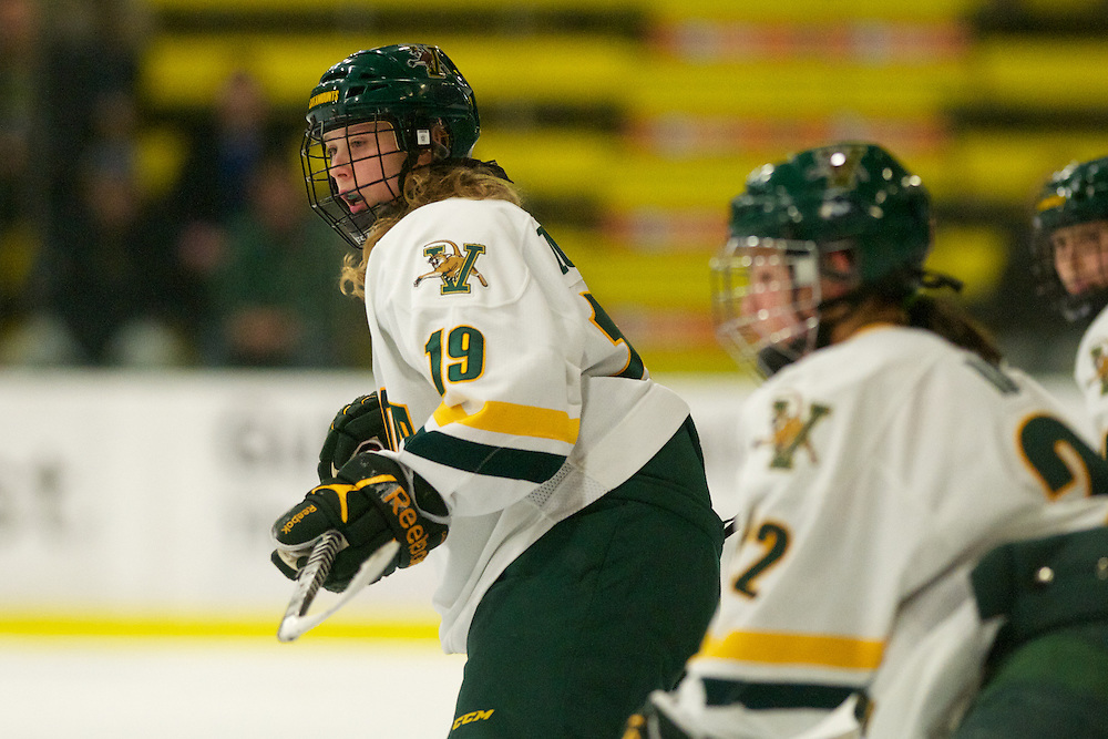 The University of Vermont Catamounts womens hockey team hosts the Providence Friars at Gutterson Fieldhouse on October 21, 2011 in Burlington, Vermont.