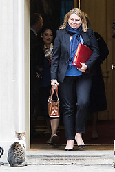 Downing Street, London, November 15th 2016.  Secretary of State for Culture, Media and Sport Karen Bradley leaves Downing Street following the weekly cabinet meeting.