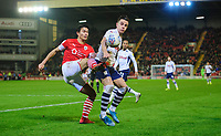 Preston North End's Josh Harrop vies for possession with Barnsley's Kenny Dougall<br /> <br /> Photographer Chris Vaughan/CameraSport<br /> <br /> The EFL Sky Bet Championship - Barnsley v Preston North End - Tuesday 21st January 2020 - Oakwell - Barnsley<br /> <br /> World Copyright © 2020 CameraSport. All rights reserved. 43 Linden Ave. Countesthorpe. Leicester. England. LE8 5PG - Tel: +44 (0) 116 277 4147 - admin@camerasport.com - www.camerasport.com