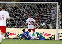 September 7, 2018 - Bologna, Italy - Italy v Poland - UEFA Nations League..Piotr Zielinski of Poland scores the goal of 0-1 at Renato Dall'Ara Stadium in Bologna, Italy on September 7, 2018. (Credit Image: © Matteo Ciambelli/NurPhoto/ZUMA Press)
