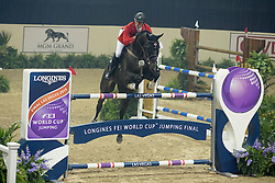 Sorensen Chris, (CAN), Bobby<br /> Longines FEI World Cup™ Jumping Final III round 1<br /> Las Vegas 2015<br />  © Hippo Foto - Dirk Caremans<br /> 19/04/15