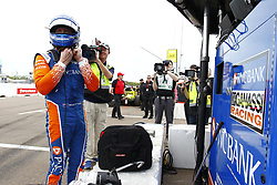 March 10, 2018 - St. Petersburg, Florida, United States of America - March 10, 2018 - St. Petersburg, Florida, USA: Scott Dixon (9) takes off his helmet after completing final practice for the Firestone Grand Prix of St. Petersburg at Streets of St. Petersburg in St. Petersburg, Florida. (Credit Image: © Justin R. Noe Asp Inc/ASP via ZUMA Wire)