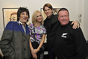 RONNIE WOOD; FEARNE COTTON; JESSE WOOD; BILL BOLTON, Faces, Time and Places. Symbolic Collection & Ronnie Wood private view, Cork St. London. 8 November 2011.<br /> <br /> <br />  , -DO NOT ARCHIVE-© Copyright Photograph by Dafydd Jones. 248 Clapham Rd. London SW9 0PZ. Tel 0207 820 0771. www.dafjones.com.
