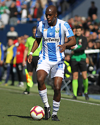 February 24, 2019 - Leganes, Madrid, Spain - Nyom of Leganes in action during La Liga Spanish championship, football match between Leganes and Valencia, February 24th, Butarque stadium, in Leganes, Madrid, Spain. (Credit Image: © AFP7 via ZUMA Wire)