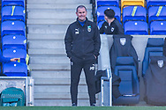 AFC Wimbledon manager Mark Robinson during the EFL Sky Bet League 1 match between AFC Wimbledon and Hull City at Plough Lane, London, United Kingdom on 27 February 2021.