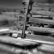 Truck Bed Wood Enclosure - Motor Transport Museum - Campo, CA - Lensbaby - Black & White