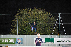 Up a tree. Falkirk 1 v 3 Rangers, Scottish League Cup game played 23/9/2014 at The Falkirk Stadium.