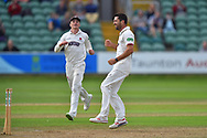 Wicket - Tim Groenewald of Somerset celebrates taking the wicket of Rory Burns of Surrey during the opening day of the Specsavers County Champ Div 1 match between Somerset County Cricket Club and Surrey County Cricket Club at the Cooper Associates County Ground, Taunton, United Kingdom on 18 September 2018.