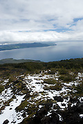 View from Osorno Volcano, Lake Llanquihue, Chile