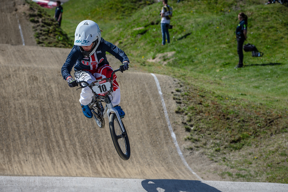 #10 (RENO Shealen) USA during practice of Round 3 at the 2018 UCI BMX Superscross World Cup in Papendal, The Netherlands