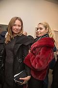 VICTORIA GOLEMBIOUSHAYA; KARINA GULYAVA, George Condo - private view . Simon Lee Gallery, 12 Berkeley Street, London, 10 February 2014