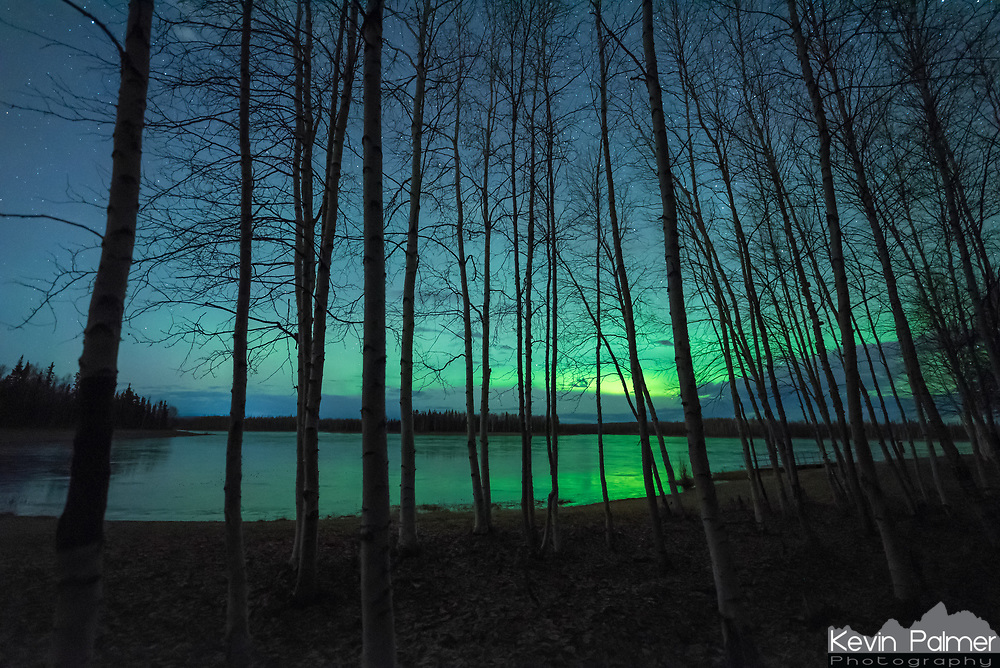 On my last night in Alaska I went to Chena Lake for a couple hours. I'm sure the aurora would have kept getting better, but I had to leave early since I'd be waking up at 4AM to catch my flight.