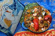 Traditional paella.