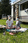 camping in time of the Covid-19 pandemic, March 2020