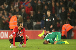 Southampton's Manolo Gabbiadini appears dejected during the Premier League match at St Mary's Stadium, Southampton.