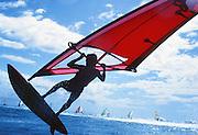 Windsurfing, Diamond Head, Oahu, Hawaii