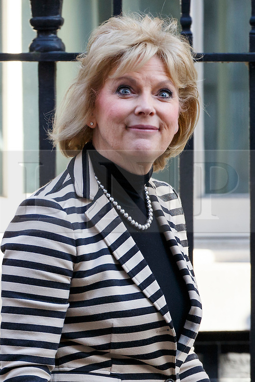 © Licensed to London News Pictures. 31/03/2016. London, UK. Minister for Small Business, Industry and Enterprise ANNA SOUBRY attending a meeting to discuss Tata Steel's decision to sell its UK business with Prime Minister David Cameron in Downing Street on Thursday, 31 March 2016. Photo credit: Tolga Akmen/LNP