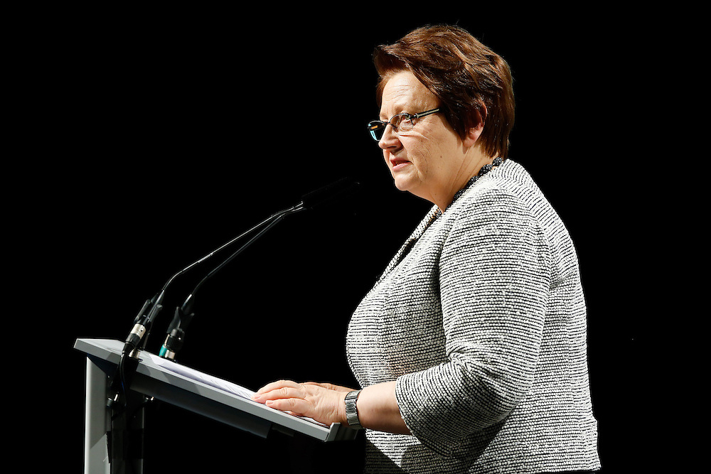 03 June 2015 - Belgium - Brussels - European Development Days - EDD - Opening Ceremony - Our World , our dignity , our future - Laimdota Straujuma ,  Prime Minister of Latvia © European Union