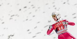 06.01.2016, Paul Ausserleitner Schanze, Bischofshofen, AUT, FIS Weltcup Ski Sprung, Vierschanzentournee, Bischofshofen, Finale, im Bild Simon Ammann (SUI) // Simon Ammann of Switzerland celebrate after his 1st round jump of the Four Hills Tournament of FIS Ski Jumping World Cup at the Paul Ausserleitner Schanze in Bischofshofen, Austria on 2016/01/06. EXPA Pictures © 2016, PhotoCredit: EXPA/ JFK