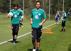 19.07.2011, Bad Kleinkirchheim, AUT, Fussball Trainingscamp VFL Wolfsburg, im Bild Marwin Hitz und Diego Benaglio, EXPA Pictures © 2011, PhotoCredit: EXPA/Oskar Hoeher
