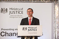 Michael Spurr, Chief Executive NOMS, speaking the The Ministry Of Justice conference