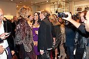 EVA HERZIGOVA; ROSARIO DAWSON; EVA CAVALLI;, Party to celebrate the launch of the new Cavalli Store. Roberto Cavalli. Sloane st. London. 17 September 2011. <br /> <br />  , -DO NOT ARCHIVE-© Copyright Photograph by Dafydd Jones. 248 Clapham Rd. London SW9 0PZ. Tel 0207 820 0771. www.dafjones.com.