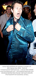 Actor NICK MORAN at a party in London on 26th September 2002.<br />PDO 35