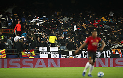 Valencia fans dance in the stands