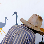 Aboriginal Drawings, Dunmara Roadhouse, The Stuart Highway, Northern Territory, Australia, Oceania