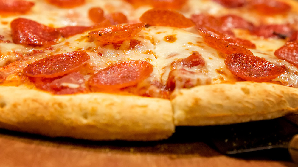 OK, Who wants a slice of some yummy pepperoni pizza.
