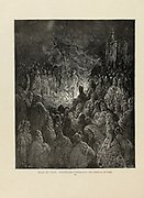 Barthelemi [Peter Bartholomew was a French soldier and mystic who was part of the First Crusade] Undergoing the Ordeal of Fire Plate XXII from the book Story of the crusades. with a magnificent gallery of one hundred full-page engravings by the world-renowned artist, Gustave Doré [Gustave Dore] by Boyd, James P. (James Penny), 1836-1910. Published in Philadelphia 1892
