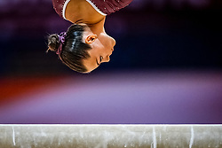 October 28, 2018 - Doha, Quatar - Sofia Bjoernholdt of  Denmark   during  Balancing Beam qualification at the Aspire Dome in Doha, Qatar, Artistic FIG Gymnastics World Championships on 28 of October 2018. (Credit Image: © Ulrik Pedersen/NurPhoto via ZUMA Press)