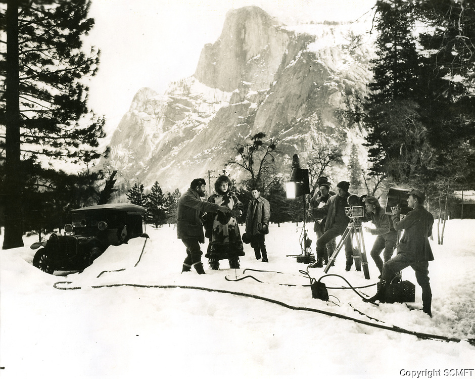 1926 On location filming in Yosemite Valley