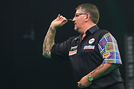 Gary Anderson during the Unibet Premier League Play-Offs at the Ricoh Arena, Coventry, England on 15 October 2020.