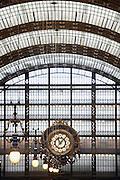Frankrijk, Parijs, 28-3-2010De grote klok in het musee 'dOrsay, voormalig treinstation, nu museum.Foto: Flip Franssen/Hollandse Hoogte