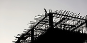 Construction worker on top level, Nay Pyi Taw