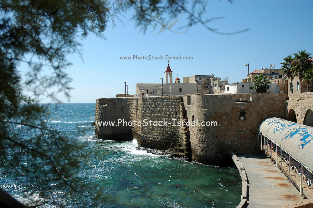 Israel, Acre, the fortified walls of the old city