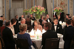 General view of the dinner attended the Duke and Duchess of Cambridge at the Royal Palace, Oslo, Norway at the end of the third day of their tour of Scandinavia.